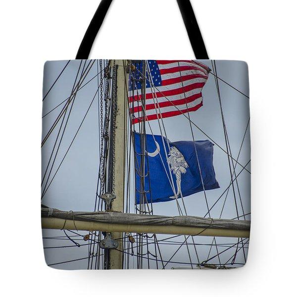 Tall Ships Flags Tote Bag