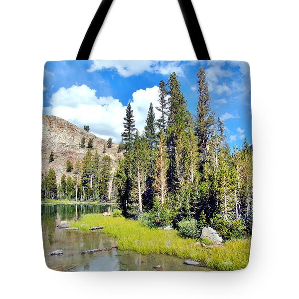 Tote Bag featuring the photograph Tall Trees by Marilyn Diaz