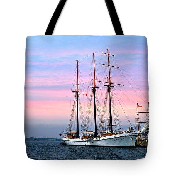 Tallship Empire Sandy Tote Bag by Elaine Manley