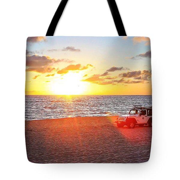 Tamarack At Sunset Tote Bag
