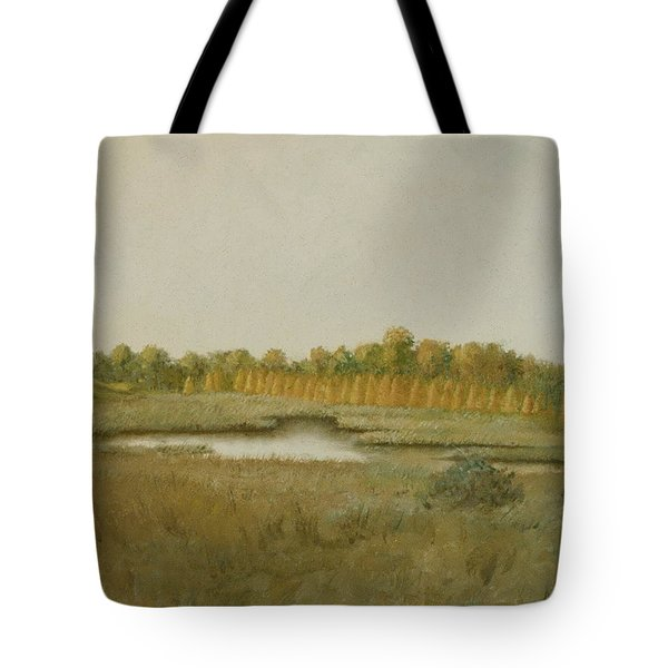 Tamarack Pond Tote Bag by Sherri Anderson