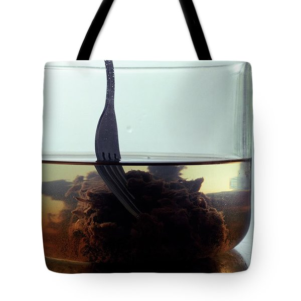 Tamarind Powder Floating In Water Tote Bag