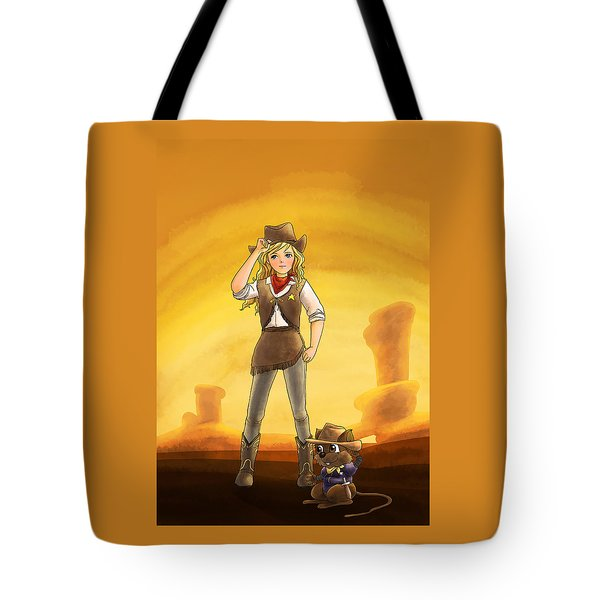 Tammy And Alfred Tame The West Tote Bag