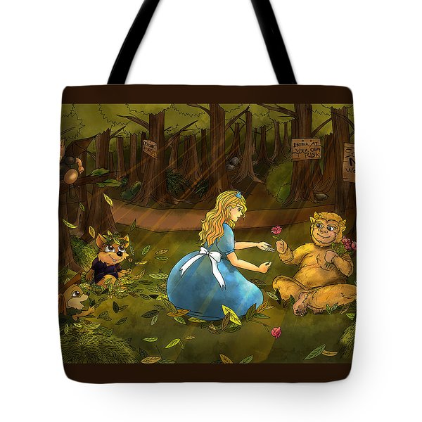 Tote Bag featuring the painting Tammy And The Baby Hoargg by Reynold Jay