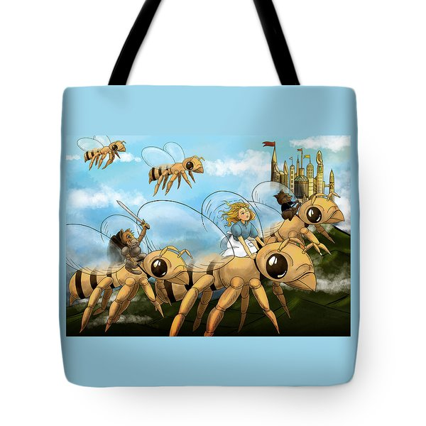 Tote Bag featuring the painting Tammy In Polynesia by Reynold Jay
