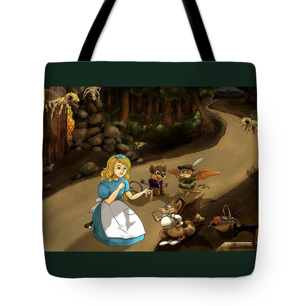 Tote Bag featuring the painting Tammy Meets Cedric The Mongoose by Reynold Jay