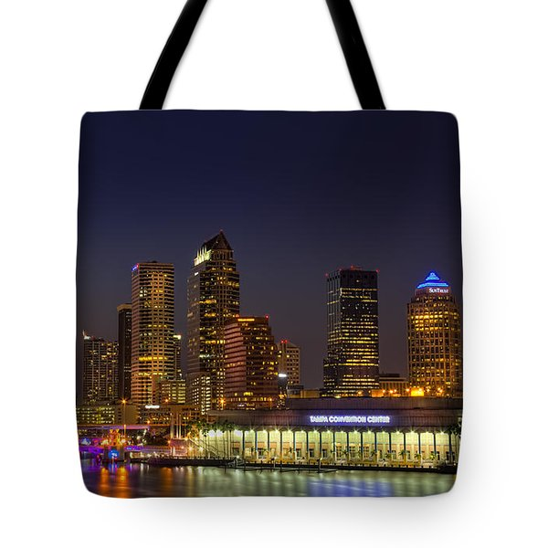 Tampa Lights At Dusk Tote Bag