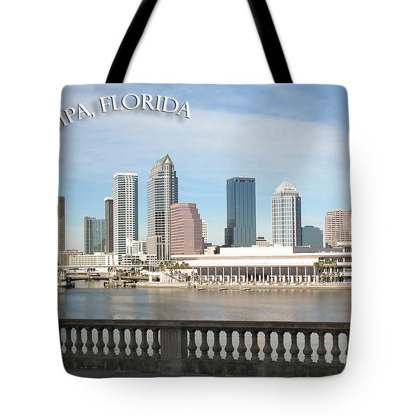 Tampa Skyline Tote Bag