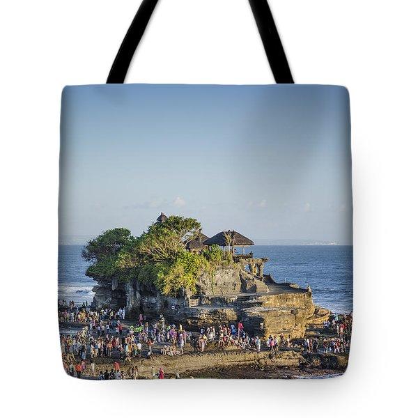 Tanah Lot Temple In Bali Indonesia Coast Tote Bag