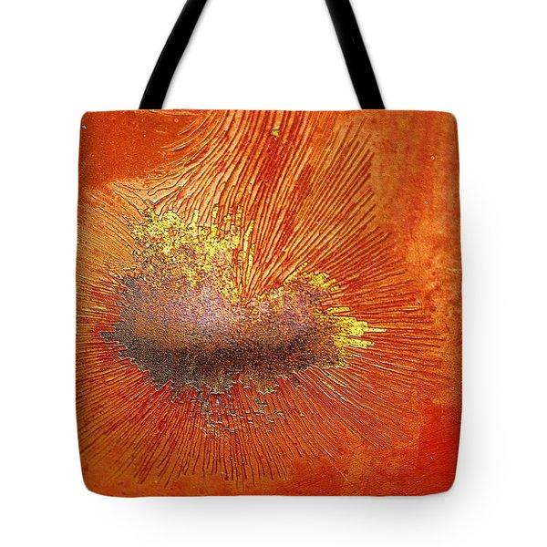 Tangerine Burst Tote Bag by Leanna Lomanski