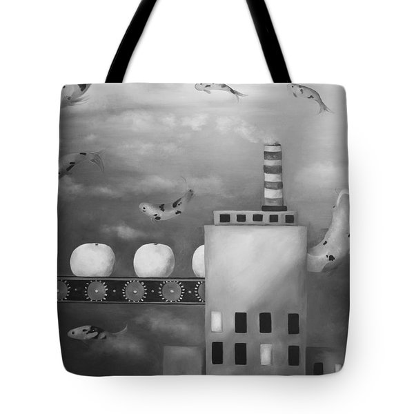 Tangerine Dream Edit 4 Tote Bag by Leah Saulnier The Painting Maniac