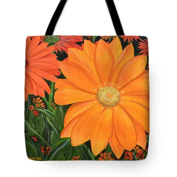 Tangerine Punch Tote Bag by Donna  Manaraze