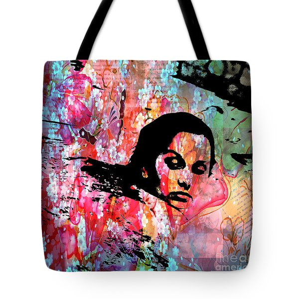 Tangled In Textures Tote Bag by Randi Grace Nilsberg