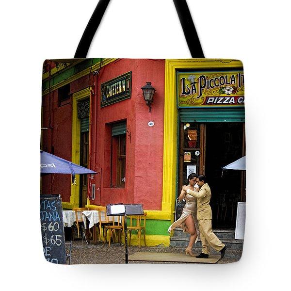 Tango Dancing In La Boca Tote Bag