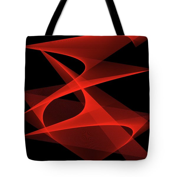 Tote Bag featuring the digital art Tango by Karo Evans