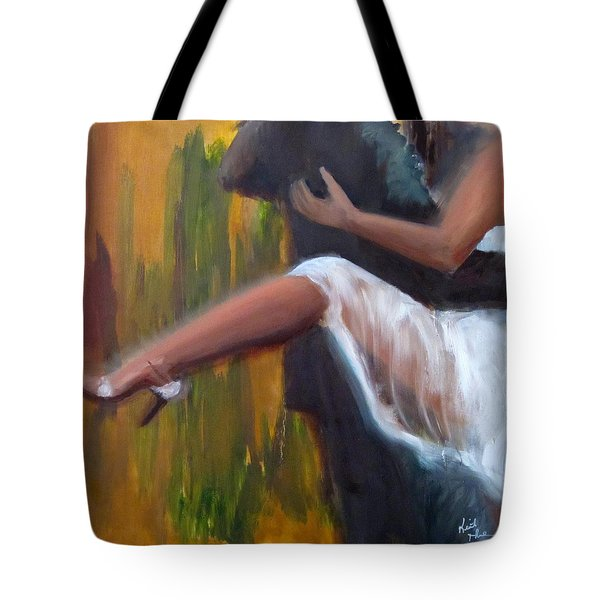 Tango On The Piazza Tote Bag