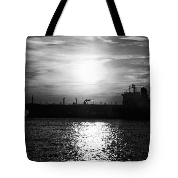 Tanker Twilight Tote Bag