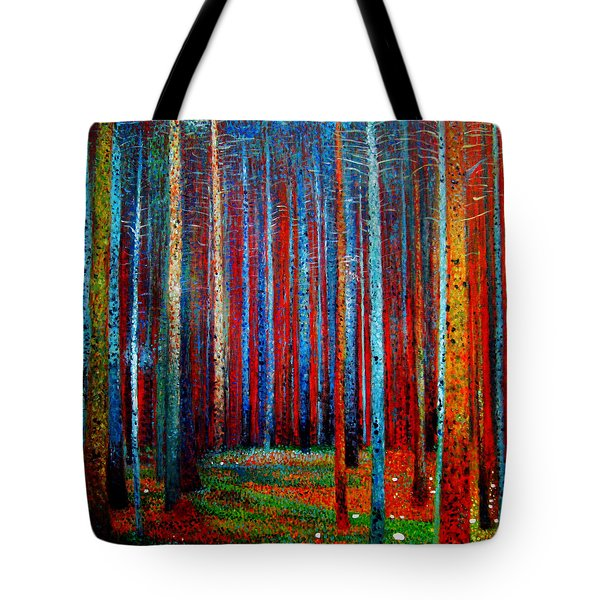 Tote Bag featuring the painting Tannenwald by Celestial Images