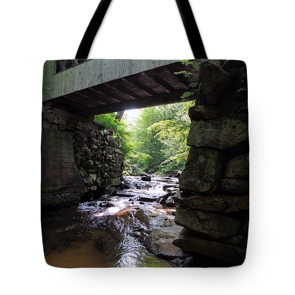 Tannery Hill Bridge Tote Bag by Mim White