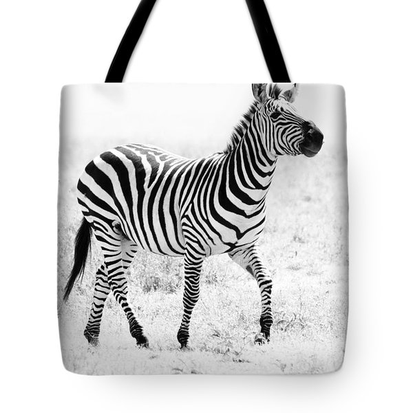 Tanzania Zebra Tote Bag by Chris Scroggins