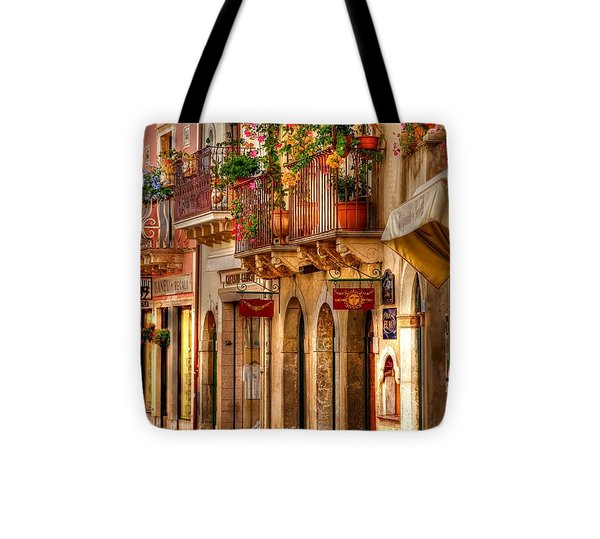 Taormina Balcony Tote Bag by Michael Berry