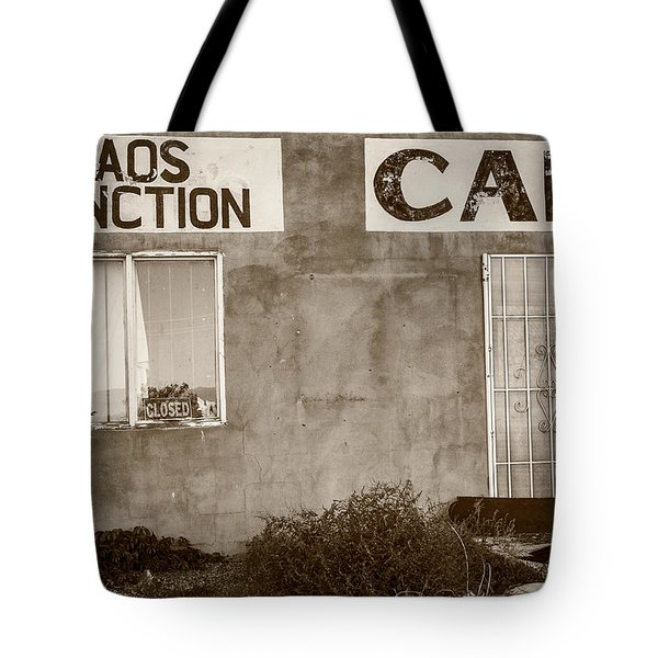 Taos Junction Cafe Tote Bag by Steven Bateson