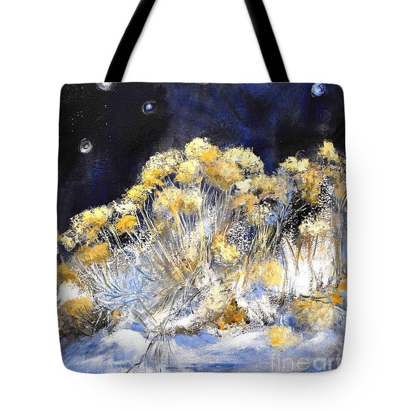 Taos Night Orbs Tote Bag