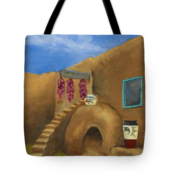 Taos Poetry Tote Bag by Jerry McElroy