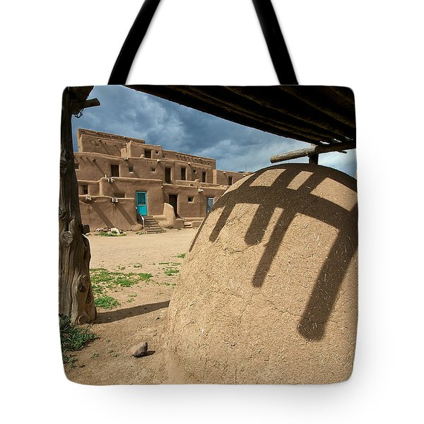 Tote Bag featuring the photograph Taos Pueblo by Britt Runyon