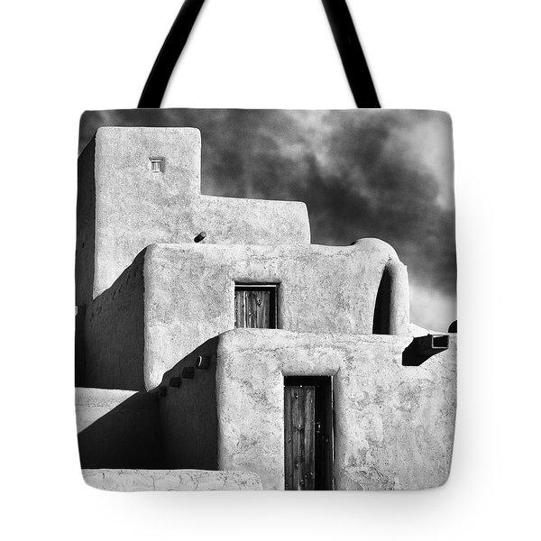 Taos Pueblo Stacks Tote Bag