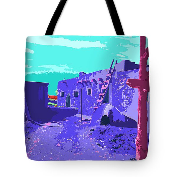 Taos Pueblo Vibrant Light Tote Bag