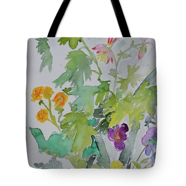 Tote Bag featuring the painting Taos Spring by Beverley Harper Tinsley