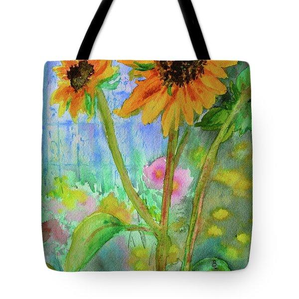 Taos Sunflowers Tote Bag by Beverley Harper Tinsley