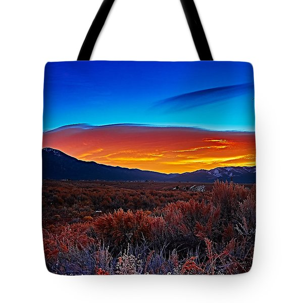 Taos Sunrise X Tote Bag