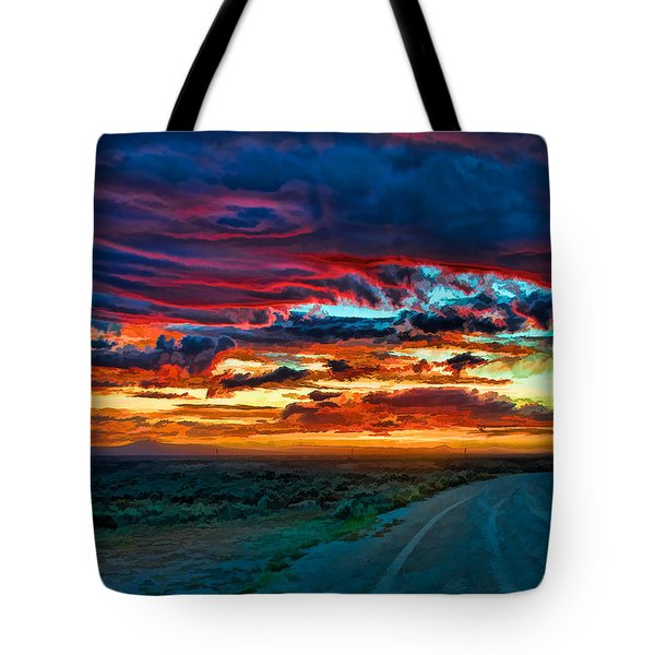 Taos Sunset Iv Tote Bag