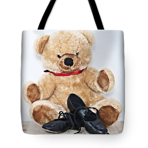 Tap Dance Shoes And Teddy Bear Dance Academy Mascot Tote Bag