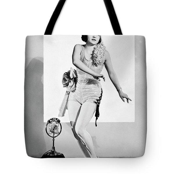 Tap Dancing On Nbc Radio Tote Bag