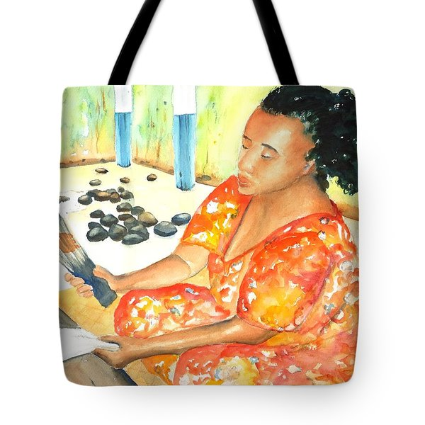 Tapa Stretch Tote Bag