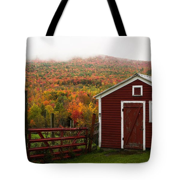 Tapestry Of Fall Colors Tote Bag by Jeff Folger