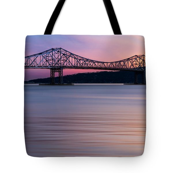 Tappan Zee Bridge Sunset Tote Bag