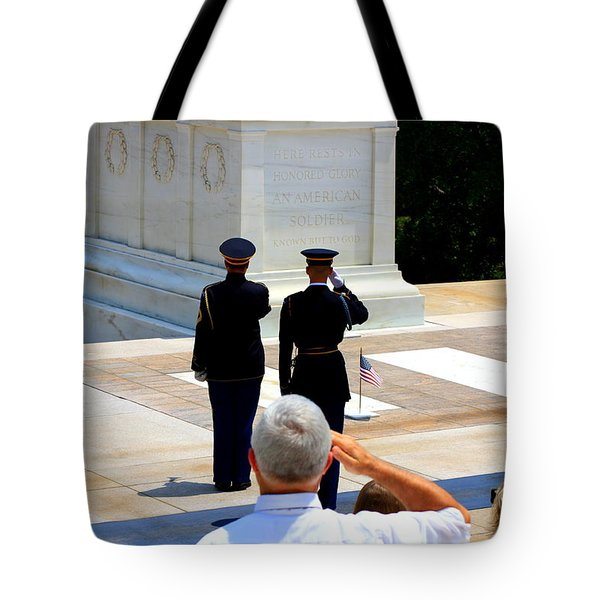 Taps At The Tomb Of The Unknown Tote Bag by Patti Whitten