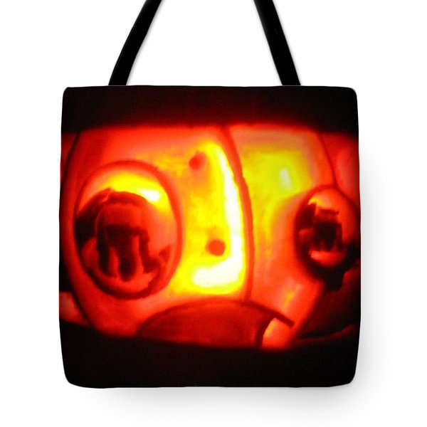 Tote Bag featuring the sculpture Tarboy Pumpkin by Shawn Dall