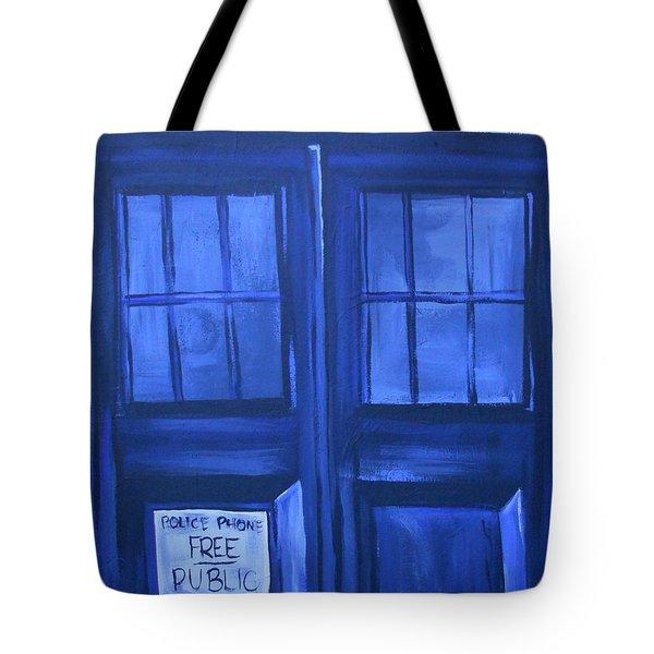 Tardis Tote Bag by Lisa Leeman
