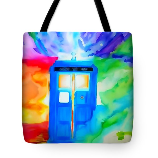 Tardis Watercolor Edition Tote Bag