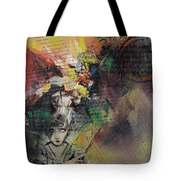 Tarot Card Abstract 005 Tote Bag by Corporate Art Task Force