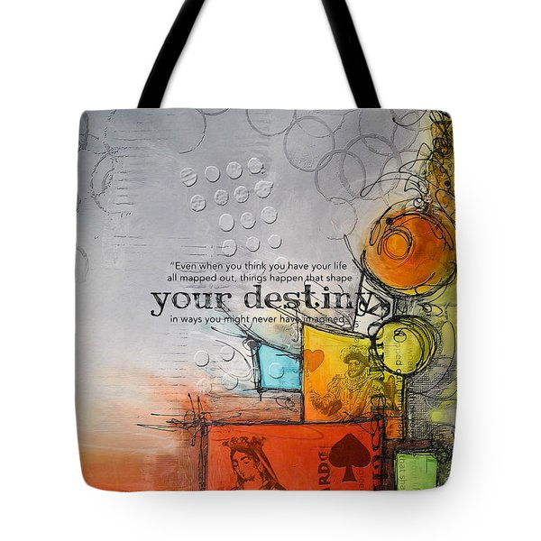 Tarot Card Abstract 006 Tote Bag by Corporate Art Task Force