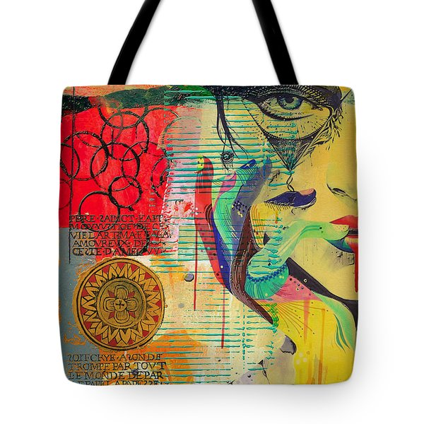Tarot Card Abstract 007 Tote Bag by Corporate Art Task Force