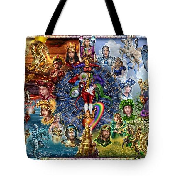 Tarot Of Dreams Tote Bag by Ciro Marchetti