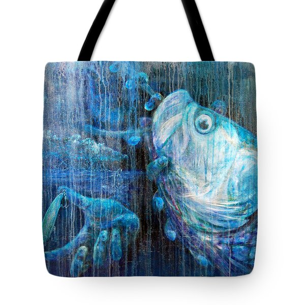 Tote Bag featuring the painting Tarpon Flats by Ashley Kujan