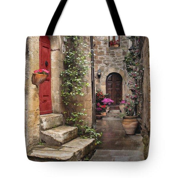 Tarquinian Red Door Tote Bag